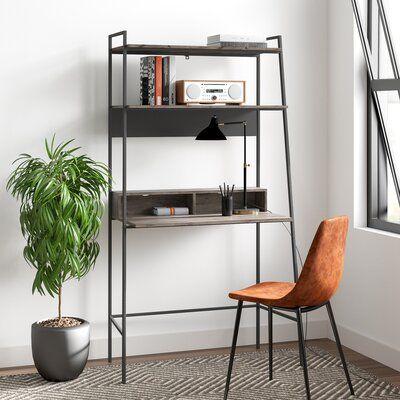 Eddy Leaning Ladder Desk Color Gray Wash In 2020 Ladder Desk Leaning Ladder Desk Furniture