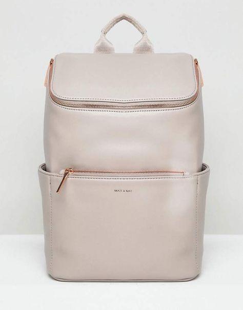 762c8ec60727 Matt   Nat Brave Rose Gold Zip Backpack