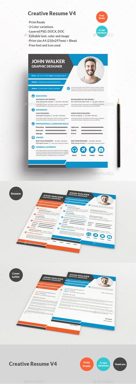 25 Creative Resume Templates To Land a New Job in Style Best - how many pages for a resume