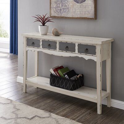 One Allium Way Emil 47 Console Table In 2020 Entryway Console Table Console Table Console Table Living Room