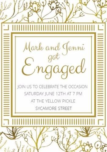 17 best Engagement Announcement Cards DIY images on Pinterest - engagement party invites templates