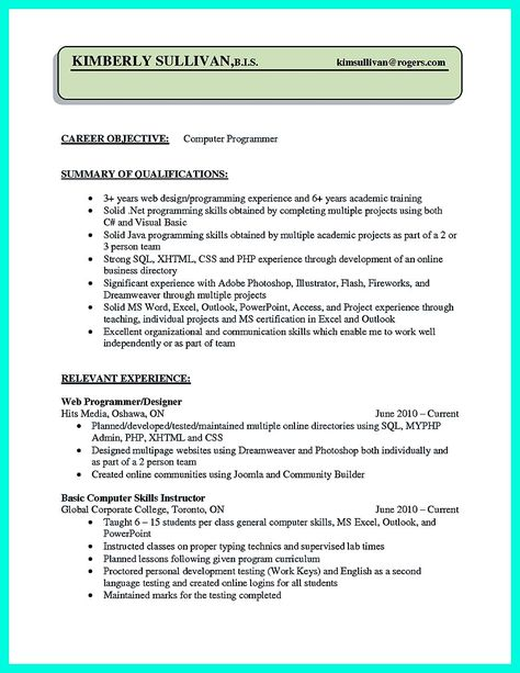 Computer Science Resume Example - http\/\/topresumeinfo\/computer - science resume examples