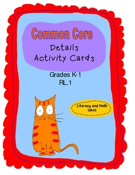 (COMMON CORE REVIEW CARDS WITH A PRINTABLE BOX)  Level A includes comprehension sentences that contain sight words, picture cues, and repeated text.  Level B includes comprehension sentences that have word families and sight words.  Both review Common Core Standard RL.1 and assist with reviewing sight words and building comprehension skills.