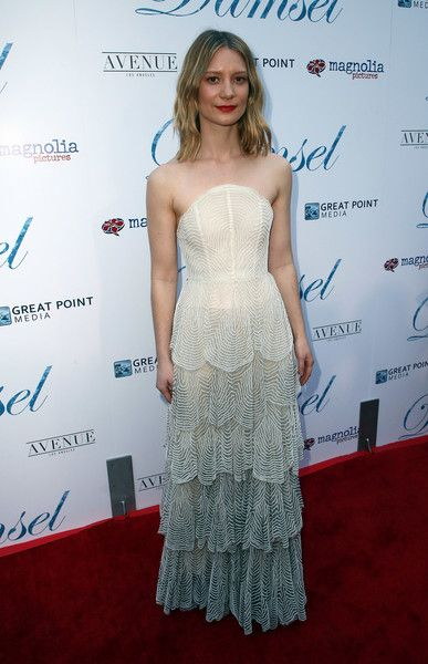 Actress Mia Wasikowska attends Magnolia Pictures' 'Damsel' premiere at ArcLight Hollywood.