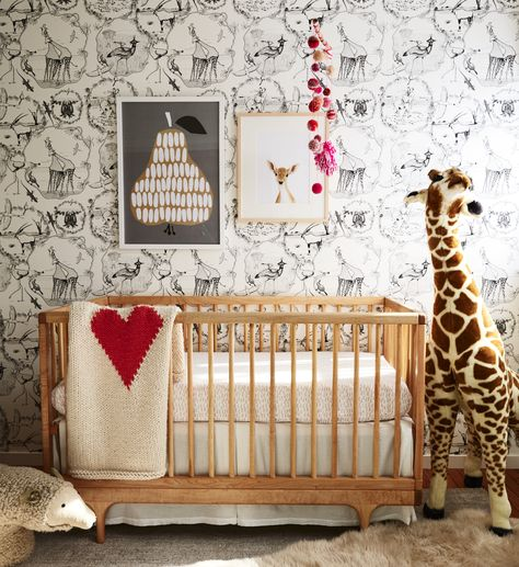 Petit Tresor Happy Animals Window Valance Boy/'s Jungle Nursery Elephant Giraffe