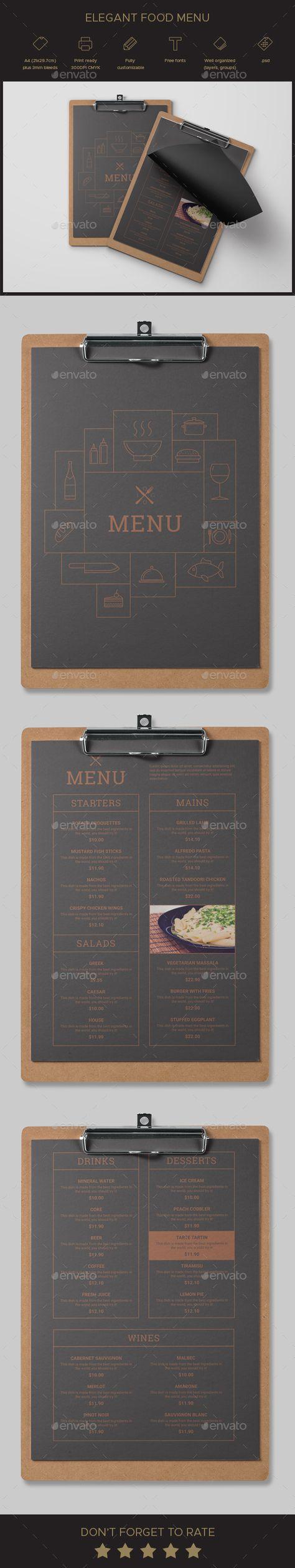 Ziemlich Elegante Menüvorlage Kostenlos Fotos - Entry Level Resume ...