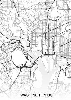Washington DC USA Street Map   North America Street Maps ... on new york map america, hawaii map america, st. louis map america, indiana map america, idaho map america, kansas map america, north carolina map america, ohio map america,