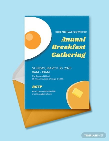 Free Business Breakfast Invitation In 2020 Invitations