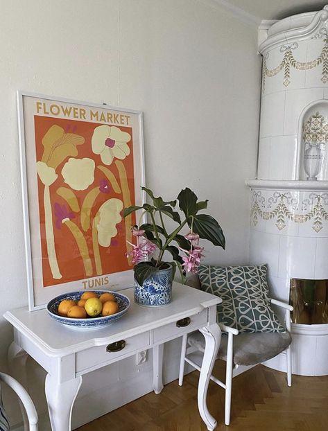 Inspo by ✨ . Ivy House, Dream Apartment, Apartment Living, Flower Market, Decoration, My Room, Copenhagen, Rustic Decor, Living Spaces