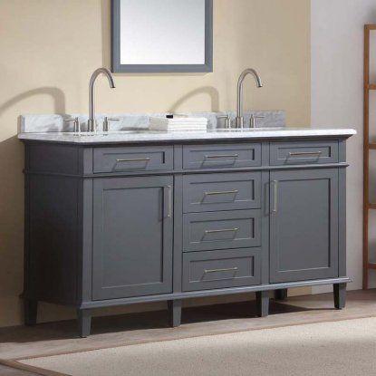 Ari Kitchen And Bath Newport 60 In Double Bathroom Vanity Set