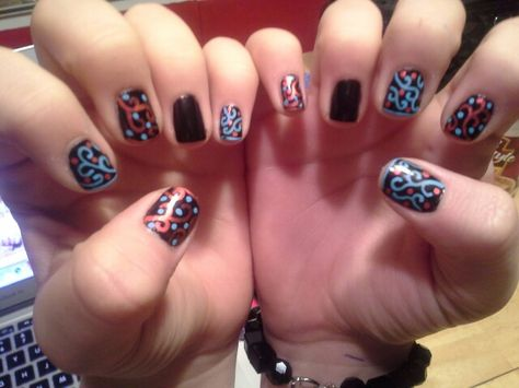Crazy Cool Nail Art Design Using Nail Art Pens Nails Pinterest