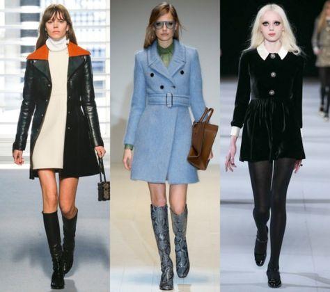 2015 - 2016 sonbahar/kış  MODA'DA 60'LAR ESİNTİSİ Kısa elbiseler, uzun çizmeler, geniş yakalar ve Mary Jane ayakkabılar, bu sene bayanları 60'ların sokak modasına götürecek.