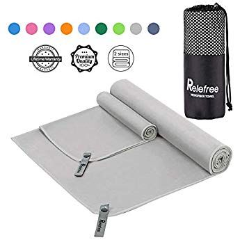 Running Sports Camping 2 Sizes Beach Travel Camping Towel Swimming Hiking and Yoga Ultra Absorbent Suitable for Fitness Relefree Microfiber Towel Quick Dry Backpacking