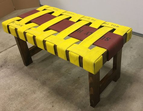 Fire Hose Bench - Supply Hose special - Fireman gift, Firefighter Birthday, Christmas present