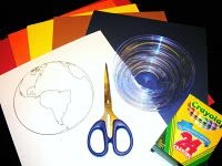 Step-by-step guide to making a construction paper model Earth.