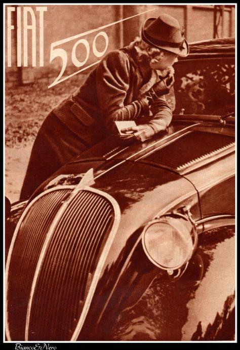 Vintage Italian Posters ~ #Italian #vintage #posters ~ FIAT 500, 1936