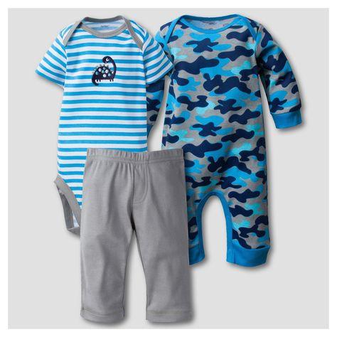 0211817a70a Gerber Baby Boys  Dinosaur 3pc Short Sleeve Coverall