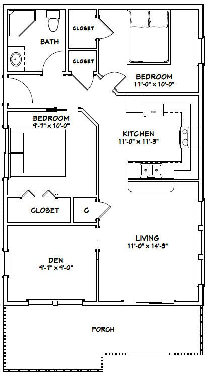 Open Den And Living Room Pdf House Plans Garage Plans Shed Plans Guest House Plans Shed House Plans House Plans