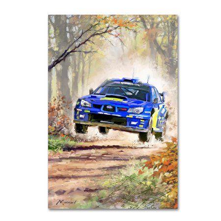 Trademark Fine Art Rally Car Canvas Art By The Macneil Studio