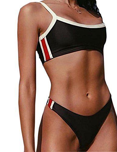 Nafleap Women 2 Pieces Bikini Sets Swimsuit Sports Style Cheeky