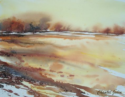 Epingle Par Tatyana Sur Akvarel Paysage Peinture Paysage Et