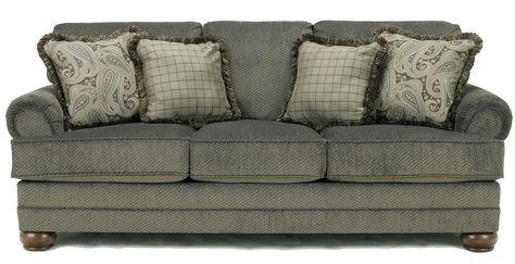 Signature Design By Ashley Parcal Estates Basil Traditional Stationary Sofa With Fringe Ashley Furniture Sofas Sofa Bed Furniture Ashley Furniture