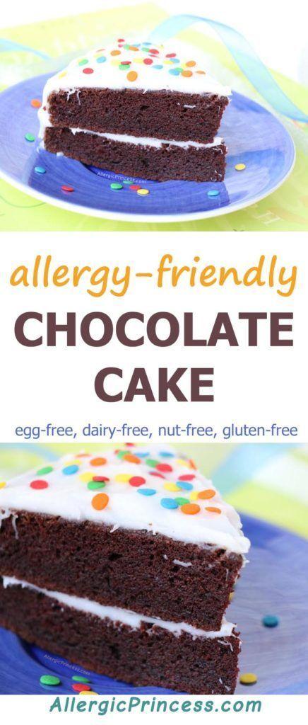 Awesome Egg Free Dairy Free Nut Free Gluten Free Chocolate Cake Recipe Funny Birthday Cards Online Inifofree Goldxyz