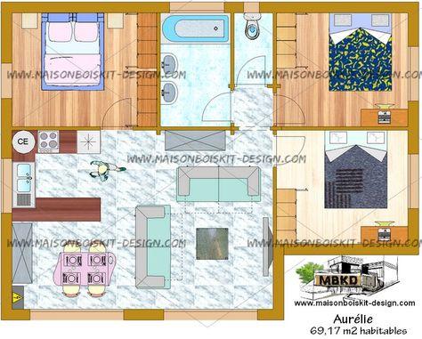 Plan Gratuit Petite Maison 3 Chambres Pas Chere Toit Plat Plan