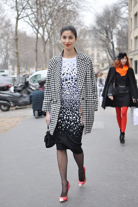 Caroline Issa in Paris in Ohne Titel. I believs I own this dress.