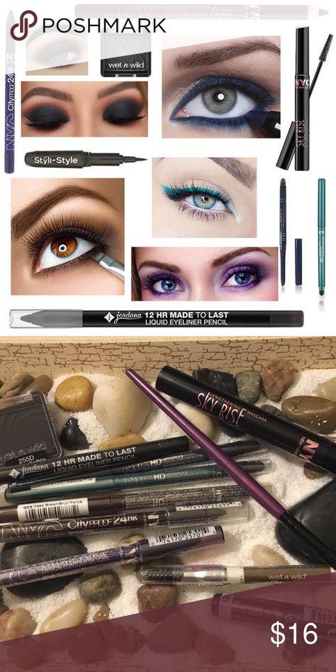 5x NYC 24HR Waterproof Eye Liner Pencil Brown Plum NWT (With