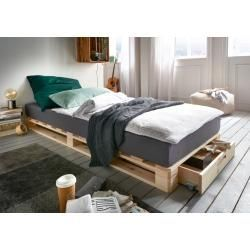 Pallet Bed With Drawer Single Bed 1 Drawer Lye Colored 14 X 90 X 200 Cm Infanskids Bed In 2020 Bedroom Furniture Layout Bed With Drawers Bed With Drawers Single