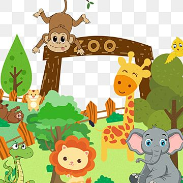Zoo Animal Elephant Tree Etc Zoo Monkey Lion Png Transparent Clipart Image And Psd File For Free Download Zoo Animals Clipart Animal Clipart Zoo Clipart