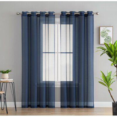 Mercury Row Highlawn Solid Sheer Grommet Curtain Panels In 2020