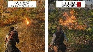 Red Dead Redemption 2 Vs Assassins Creed Odyssey 4k Graphics