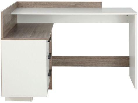 Bureau dangle thales coloris blanc et chêne foncé vente de bureau