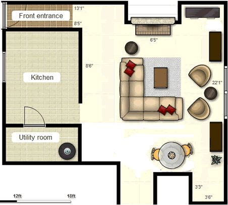 Furniture Layout For Living Room With Two Empty Alcoves