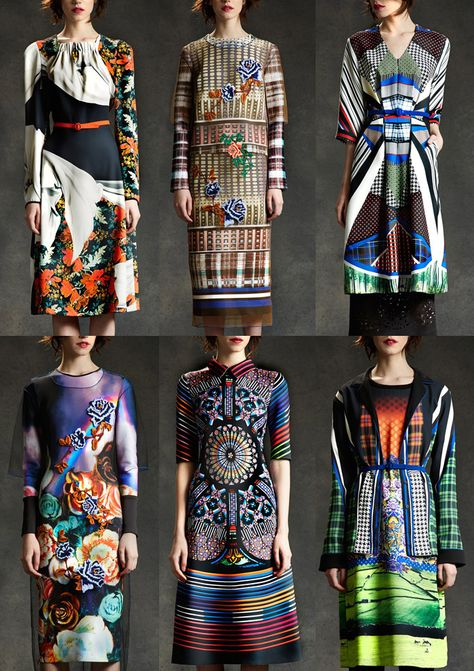 New York Fashion Week – Autumn/Winter Photographic Backgrounds – Heavy Folk Embroidery – Constructed Pattern Mixes – Fluorescent Rainbow Prints – Rich Painterly Florals – Stained Glass Window Prints – Garish Plaid and Tartan –