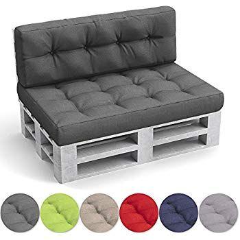 Oskar Palettenkissen Set Sitz Und Ruckenkissen Anthrazit Diy Furniture Furniture Small Porch Decorating
