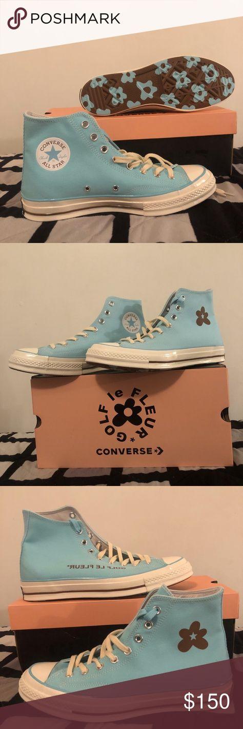 ff6fe392e05b GOLF LE FLEUR baby blue converse GOLF LE FLEUR baby blue converse from the  limited addition