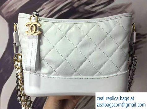 e58185d9e998 Chanel Gabrielle Small Hobo Bag A91810 White 2017
