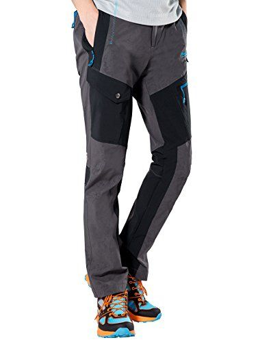 Makino Men& Lightweight Quick Dry Hiking Pants with Zipper Pockets Three Color *** See this great image : Hiking clothes