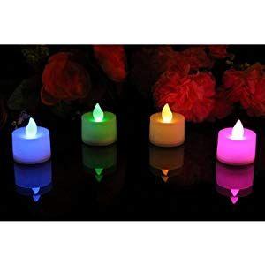 Sotech Farbwechselnde Led Kerzen 12er Teelichter Batterie Led