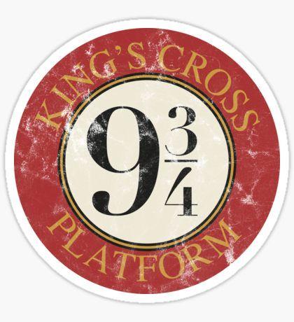Platform 9 3/4 Distressed Sticker