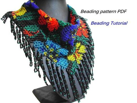Beautiful Beaded Scarf Patterns and Tutorials by MLivista - The Beading Gem's Journal