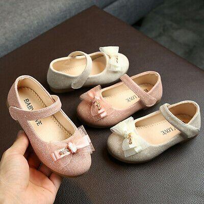 Toddler Child Infant Kid Girls Flock Crystal Princess Single Casual Shoes 1-12Y