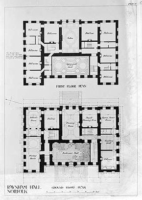 Raynham Hall 2 Floor Plans Vintage House Plans How To Plan Architectural Floor Plans