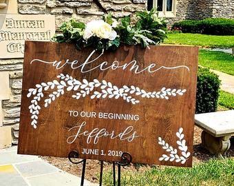 Wedding Signs Etsy Wedding Signs Wedding Wedding Decorations