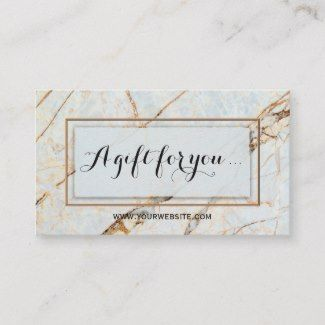Marble Gift Certificate Gift Card Template Business Card Size Card Templates