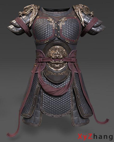 ArtStation - 中式盔甲, 晓宇 张