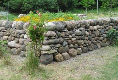 Trockenmauer bauen-Stein Mauer-Ideen Haus und Garten Pinterest - steine fur gartenmauer